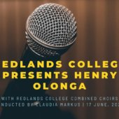 Free concert, featuring Henry Olonga, Redlands College Combined Choirs conducted by Claudia Markus.